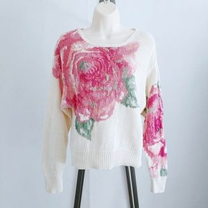 Vintage Forenza Rose Knit Ramie Sweater Small